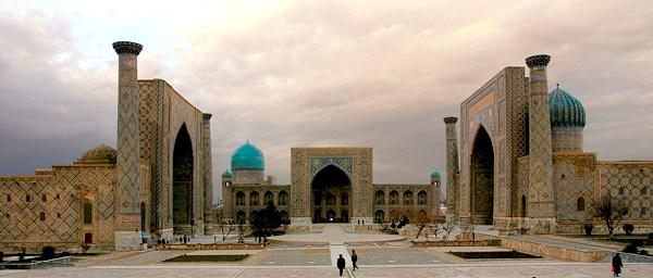 Usbekistan, Registanplatz in Samarkand